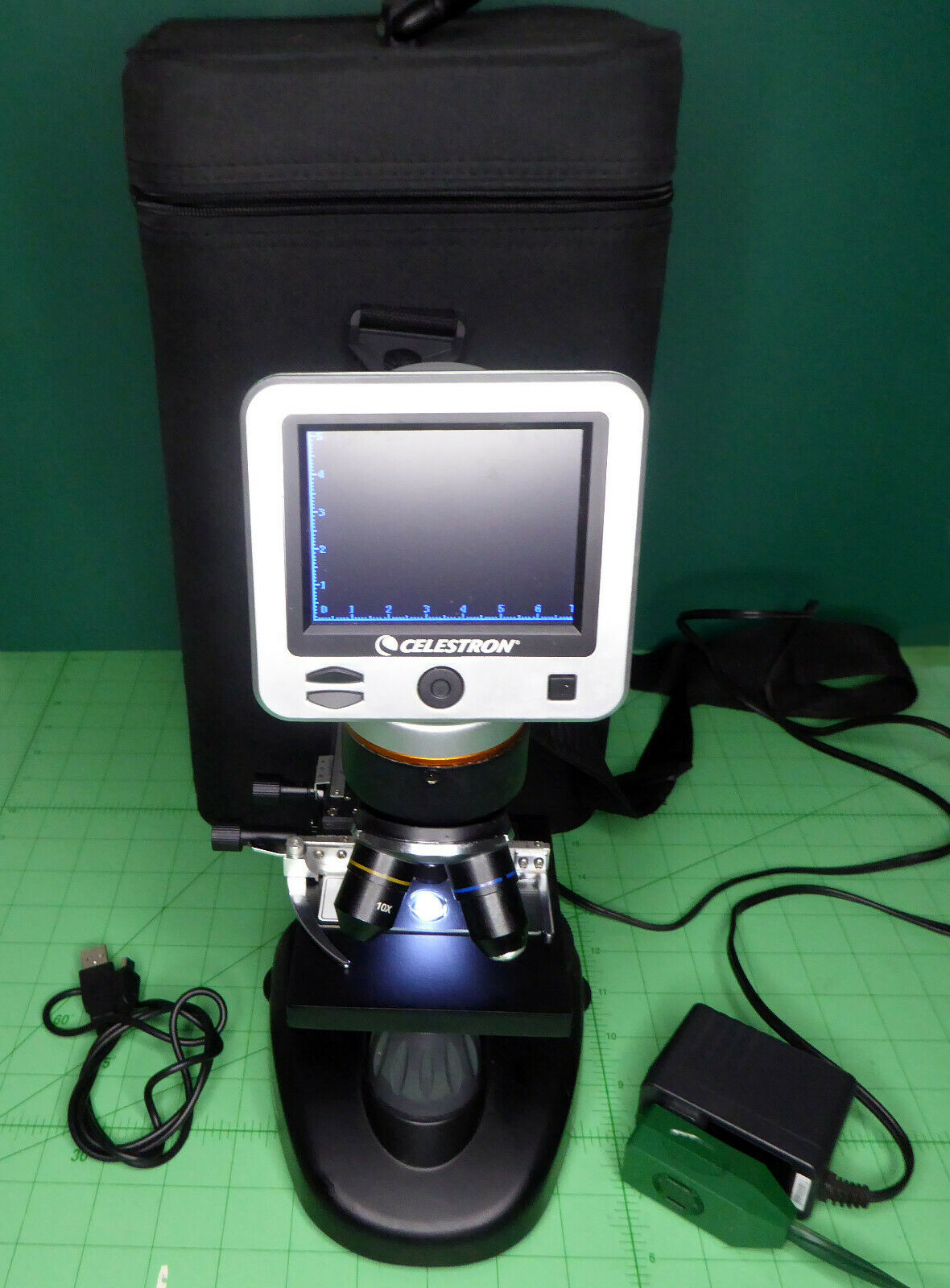 Celestron. LCD Digital Microscope II, Model  44341 with original case and slides