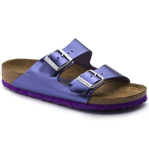 Birkenstock Damen Sandale Arizona 1003478 violet lila Leder Pantolette Weichbett