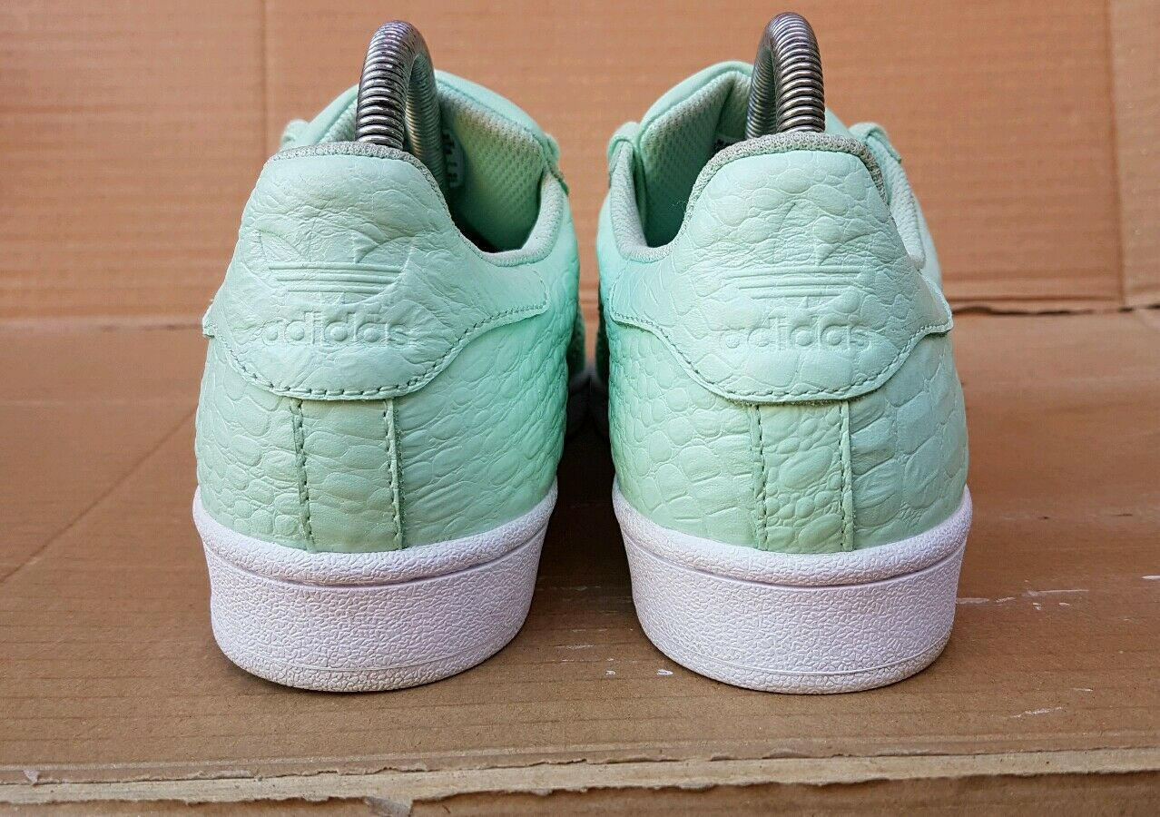 ADIDAS SUPERSTAR TRAINERS SIZE SIZE 4.5 UK FIT A SIZE SIZE 5 MINT GREEN REPTILE SKIN 345c4f
