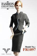 The Vogue Grey Formal Office Designer Suit Set for Fashion Royalty FR2 Silkstone