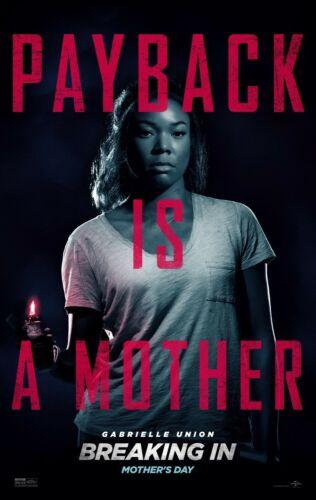 Breaking In 11x17 Promo Movie POSTER Gabrielle Union