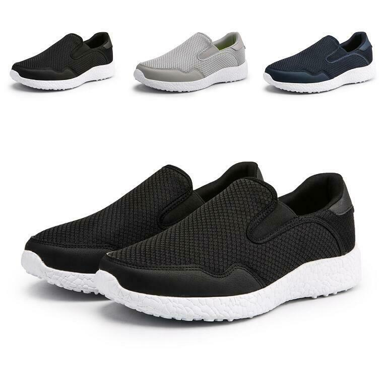 Mens Outdoor Sport Leisure Sneakers shoes Mesh Breathable Loafers Slip on Flats