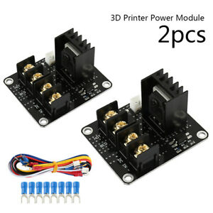 2 pcs ANET A8 MOSFET Board Upgrade 3D Printer Heated Bed Power Module i3 Heatbed