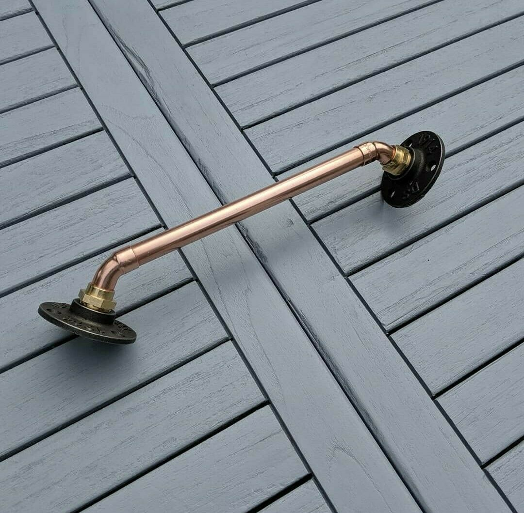 Industrial Designed Chrome/ Copper Pipe 90 Degree Corner Towel Rail
