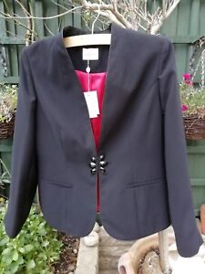 12 New Jacket With cost Red Black Size Ladies gorgeous Eastex £199 Lining f1HXx1w
