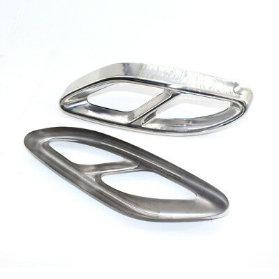 Pair Rear cylinder exhaust pipe Cover Trim For Benz W166 W176 X205 E Class