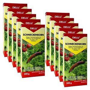 Schneckenkorn-10x-300-g-Nacktschnecken-Bekaempfung-Schnecken-Schneckengift-DELU