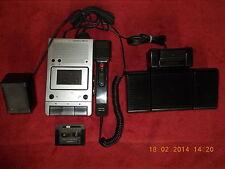 GRUNDIG 2300La Stenorette mit Netzteil+Handmikrofon+Fußschalter,vollFUNKINSFÄHIG