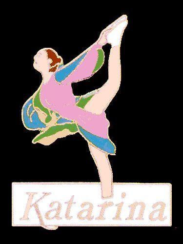 LARGE BOLD /& ELEGANT LIMITED  EDITION Katarina Skating Lapel Pin MINT