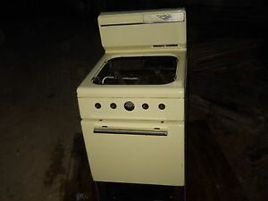 Image Is Loading DIXIE Yellow Porcelain Vintage 4 Burner Gas Propane