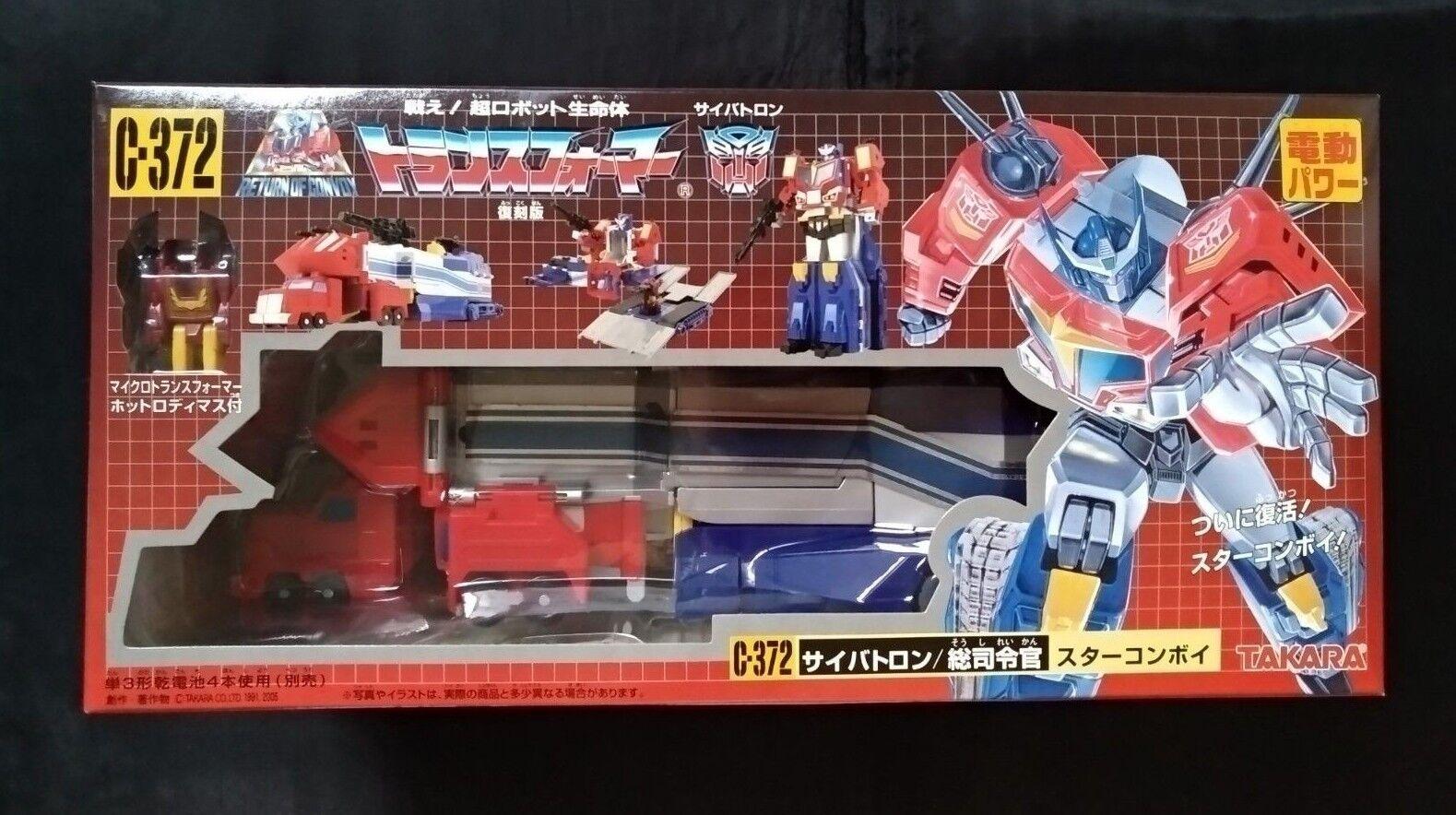 TRANSFORMERS STAR convoi C-372 Takara Optimus  Rodimus Autobot ANIME hommeGA  magnifique