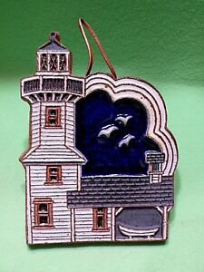 Art tile LIGHTHOUSE with deep raised relief features ...