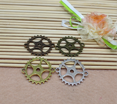 The Cheapest Price 15/45pcs 25mm Antique Silver/bronze Filigree Gear Connector Links Orders Are Welcome. Jewelry Connectors & Bails Beads & Jewelry Making