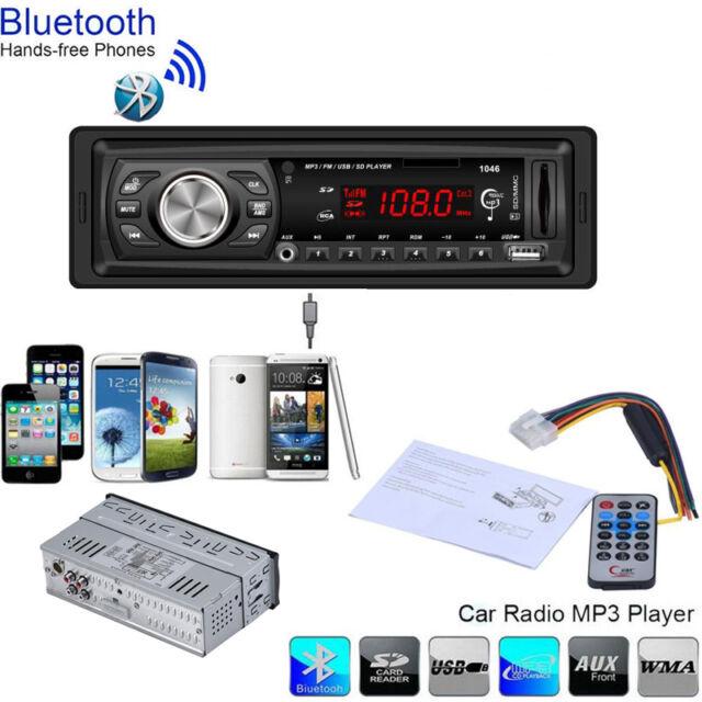 Bluetooth Car In Dash Audio Stereo Auto Head Unit MP3/USB/SD/MMC Player Handfree