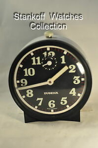 034-Dugena-034-Vintage-c-1969-039-s-German-Table-Alarm-clock