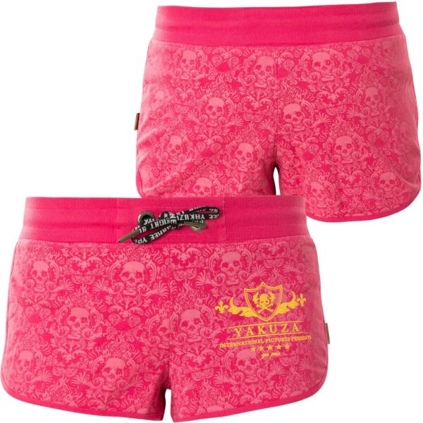 YAKUZA Shorts Crests Sweat GSSB-14130 Rose Red Damen