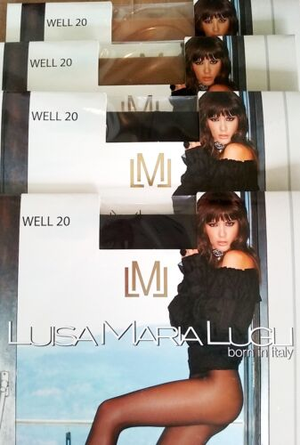 Luisa Maria Lugli Silky SHEER Well 20 Pantyhose Double Cover Natural Tights XS