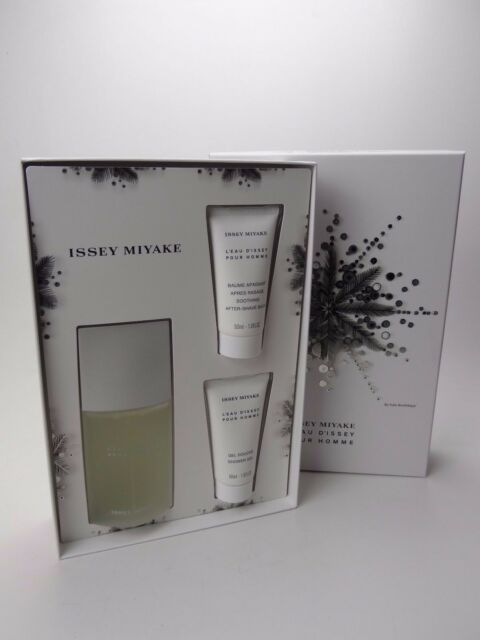 f2f024f7f9 ISSEY MIYAKE LEAU DISSEY HOMME GIFT SET WITH 75ML EDT, 50ML SHOWER GEL &  BALM