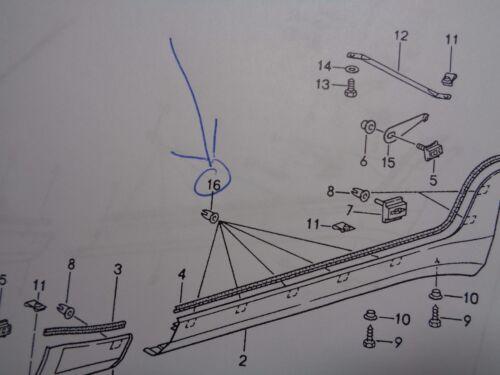 PORSCHE  968 SIDE SKIRT TRIM MOLDING HARDWARE KIT  #  3 ALL NEW AND GENUINE