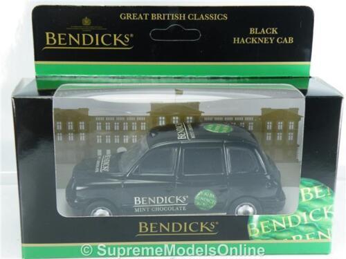 Corgi Bendicks London Taxi coche modelo promocional problema de escala 1:36 FX4 Negro K8Q