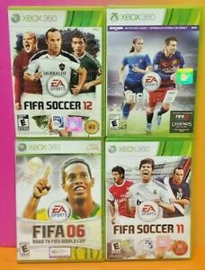 XBOX-360-Sport-Game-Lot-FIFA-Soccer-11-12-16-06-Road-to-World-Cup-Tested-EASport