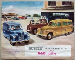 AUSTIN A40 VAN Light Commercials Sales Brochure c1953 #962/Export