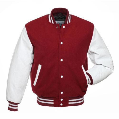 De Corps Blanc Classique Bombardier Letterman red Laines Jacket Universitaire wYBqP