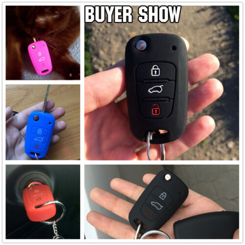 Schlüssel Cover Car Key Silikon Hülle für KIA Soul Sportage Rio Optima HYUNDAI