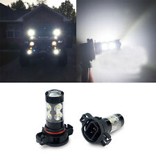2pcs 50W CREE PSX24W 2504 6000K White LED Car Daytime Running Fog Light Bulbs