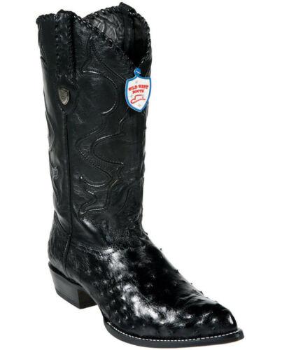 Cowboy Wilde Genuine Westen J Full Western toed Black Quill Struisvogel Boot MVqSzpGU