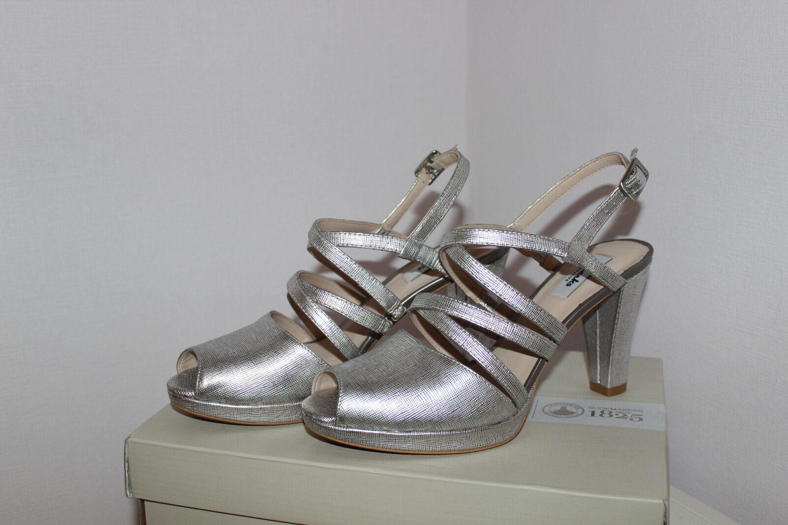 Clarks Kendra Cool, (6 Damen Knöchelriemchen Pumps, Silber Gr.39.5 EU (6 Cool, Damen UK) 8cd8a8