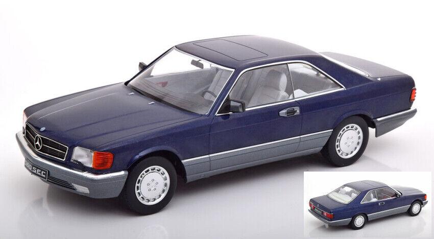 Mercedes 560 SEC (c126) metallic azul 1 18 Model KK Scale