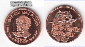 Eule-Owl-Max-Planck-Physiker-Kiel-Goettingen-Cu-Medaille-18-mm-Tb-31