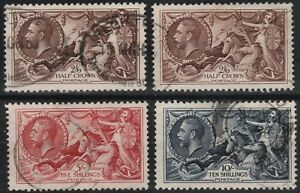 1934-RE-ENGRAVED-SEAHORSES-SG450-452-VERY-FINE-USED-SET-INC-2-BROWN-SHADES