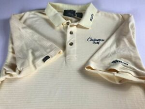 Chattanooga Mocs Golf Polo Shirt Mens Large Student Alumni Tennessee Yellow Grad