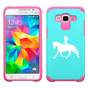 For-Samsung-Galaxy-Core-Grand-Prime-Shockproof-Hard-Case-Cowgirl-Riding-Horse