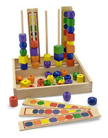 Melissa And Doug Wooden Bead Sequencing Set Classic Toy 570