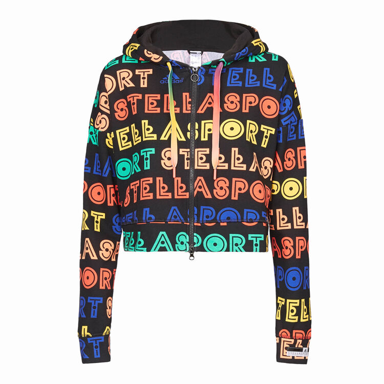 Adidas By Stella Mccartney Printed Zip Hoody Jacket Dutschke Veste Sport Veste Femmes