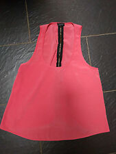 TOPSHOP PEACH FLOATY OVERSIZED VEST TOP SIZE 8 WITH BACK ZIP