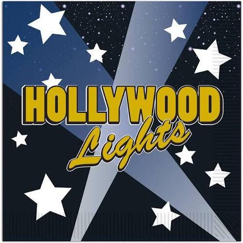 16 Serviettes Hollywood Lumières serviettes