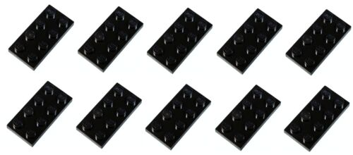 Lego Black Plate 2x4 10 pieces NEW!!!