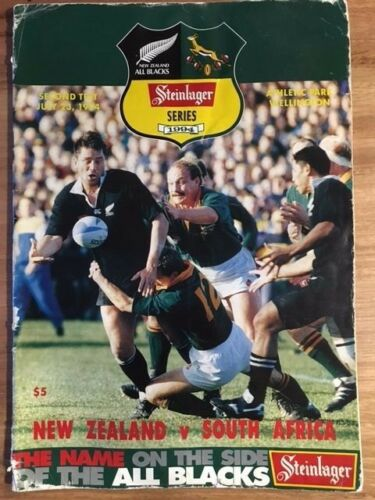 Rugby Programme New Zealand vs South Africa 2nd Test 230794 FREE DELIVERY