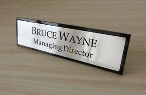 Image Is Loading Personalised Desk Name Plate Custom Laser Engraved Sign