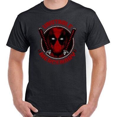 Instable mercenaire homme drôle Deadpool T-Shirt Marvel Super Héros movie film