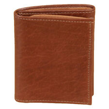"""RAVEN HOLLOW 4 1//2/"""" TRI FOLD BLACK LEATHER WALLET MADE IN USA"""