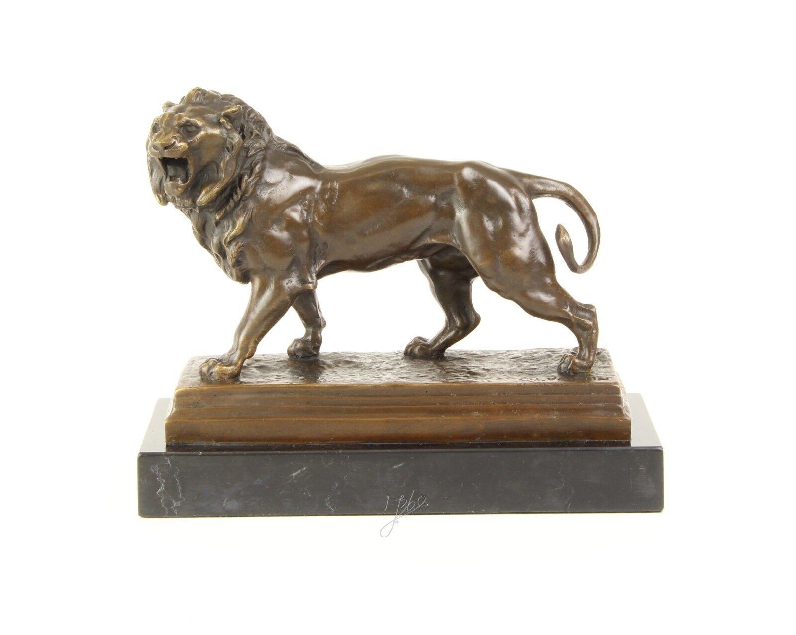 Bronze-Skulptur schreitender Löwe neu 9973242-dsp