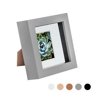 4 x 4 3D Box Frame Photo Picture Deep Display Shadow with 2 x 2 Mount