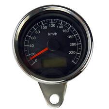 Mini Tachometer mit schwarzem Ziffernblatt für Harley Davidson Modelle