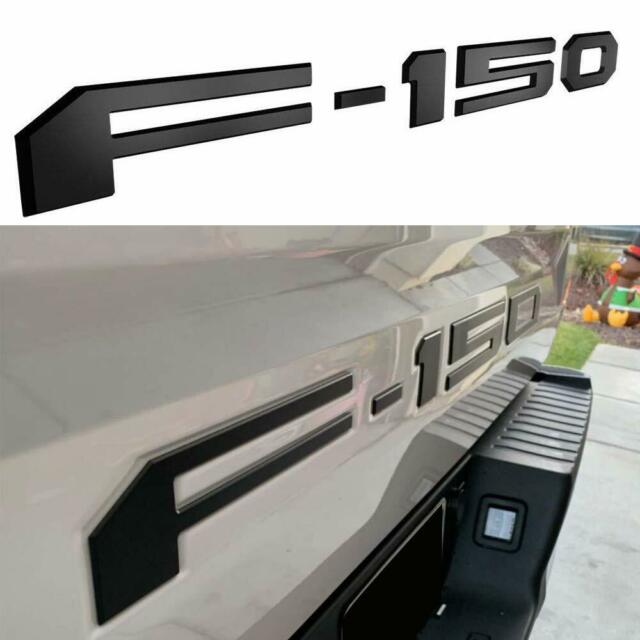 2PCS F150 Car Emblem Chrome Badge Decal 3D Sticker Compatible with Ford F150 2018 2019 2020-3M