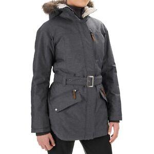 Columbia Carson Pass II Omni Heat Belted Waist Jacket Fur Hood ... e446428f8